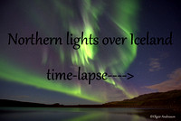 Northern lights over Iceland time-lapse